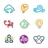 Line abstract decoration symbol human creativity idea force logo icons Royalty Free Stock Photos