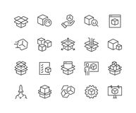 Line Abstract Product Icons Stock Photo