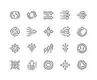 Line Abstract Transition Icons Stock Image