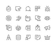 Line Agile Development Icons Royalty Free Stock Image