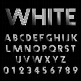 Line alphabet font template. Alphabet font template. Set of letters and numbers line design. Vector illustration Royalty Free Stock Photos