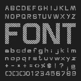 Line Alphabet vector font, Type letters and numbers Royalty Free Stock Image