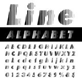 Line alphabet Royalty Free Stock Photo
