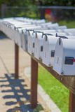 Line of the American Post Office Boxes Outside Stock Photos