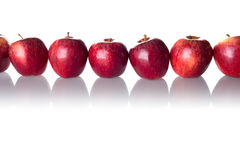 Line of apples Stock Photography