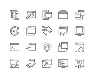 Line Application Icons Stock Image