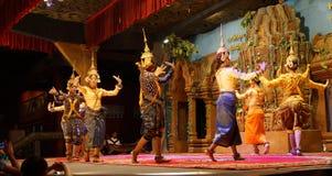 Line of apsara dancers Royalty Free Stock Images