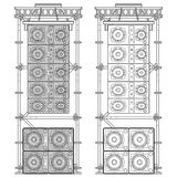Line array concert acoustics scaffold suspension illustration Stock Photo
