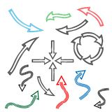 Line arrow icon, set line arrow icon. Flat design. Icon Set royalty free illustration