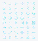 Line Arrow icon set Royalty Free Stock Photo