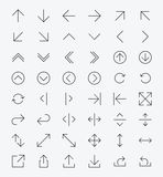 Line Arrow icon set Royalty Free Stock Images