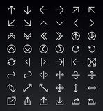 Line Arrow icon set Stock Photography