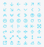 Line Arrow icon set Royalty Free Stock Photos