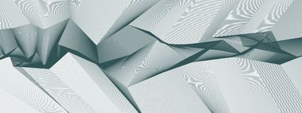 Free Line Art 3d Abstract Vector Background With Geometric Linear Ter Stock Photo - 114549100