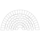 Line art brick circle pattern background | texture architecture design Stock Images