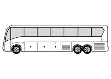 Line art - bus Stock Photos