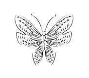 Line art butterfly Royalty Free Stock Photo