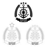 Line_art_captain_badge 向量例证