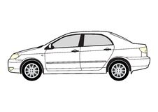 Line art - car Royalty Free Stock Photography