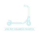 Line Art Childrens Scooter Two Royalty Free Stock Photo
