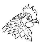Line art of cock Royalty Free Stock Images