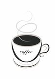 Line art coffee Royalty Free Stock Images