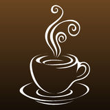 Line art coffee 3 royalty free illustration
