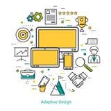 Line Art Concept - Adaptive design vector illustration