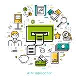 Line Art concept - Bank Safe Stock Images