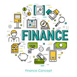 Line Art concept - Finance concept Stock Image