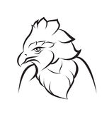 Line art of crown eagle Stock Image