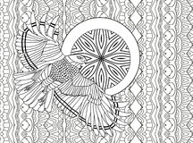 Line art design. Coloring book for adults. Flying eagle Royalty Free Stock Image