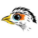 Line art of eagle Royalty Free Stock Photo