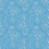 Line art floral seamless pattern Royalty Free Stock Photo