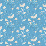 Line art floral seamless pattern Royalty Free Stock Image