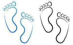 Line art footprint clip art Stock Image