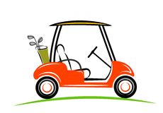 Line art of golf car Royalty Free Stock Images
