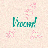 Line-art hand-drawn doodle with modern calligraphy word Vroom! Stock Images
