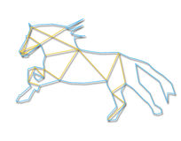 Line art horse Stock Images