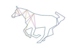 Line art horse Royalty Free Stock Photography