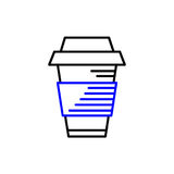 Line art icon, Coffee Cup Icon, Food Outlin Drink, Coffee icon. Vector line art icon Stock Images
