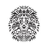 Line art of lion head Royalty Free Stock Image