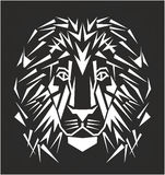 Line art Lion tattoo Stock Photos