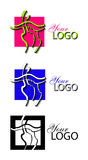 Line art logo. Formed in three colors vector illustration