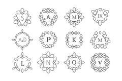 Line art logo templates Stock Images