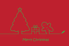 Line art Merry Christmas Royalty Free Stock Photography