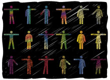 Line Art People Pictograms Royalty Free Stock Image
