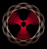 Line art radioactivity-like symbol Royalty Free Stock Photography