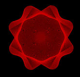Line art red seal on black background Stock Photography