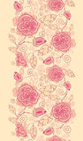 Line art roses vertical seamless pattern Royalty Free Stock Photography